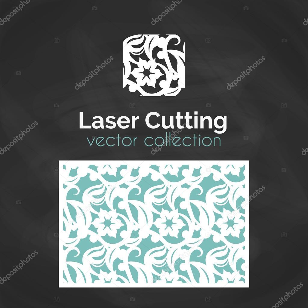 Plantilla de tarjeta para corte del Laser del corte del laser ...