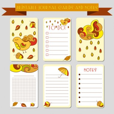 Bids printable notes design