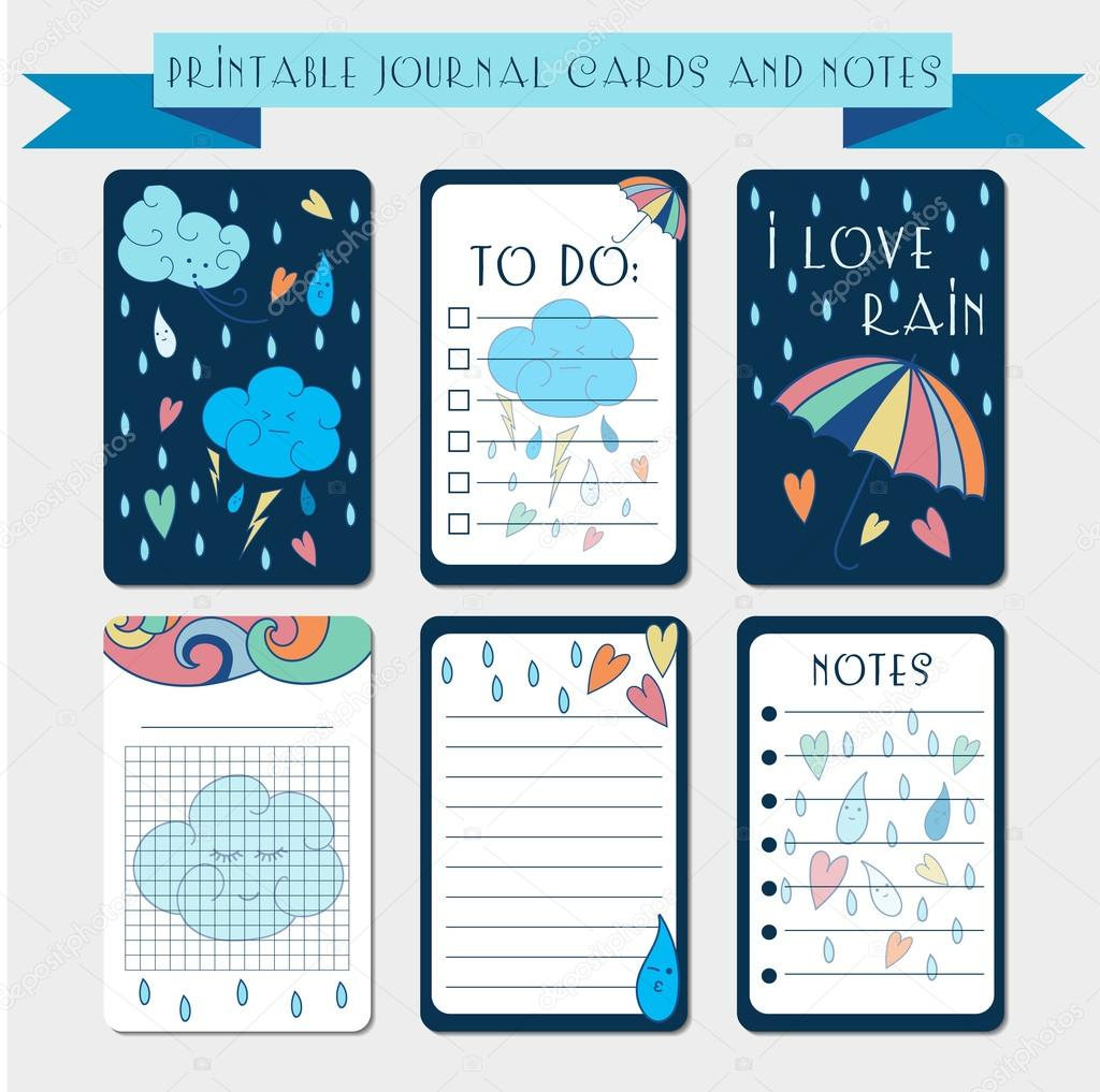 Printable notes, journaling cards.