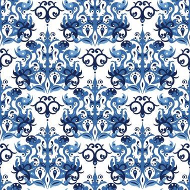 Seamless blue pattern.