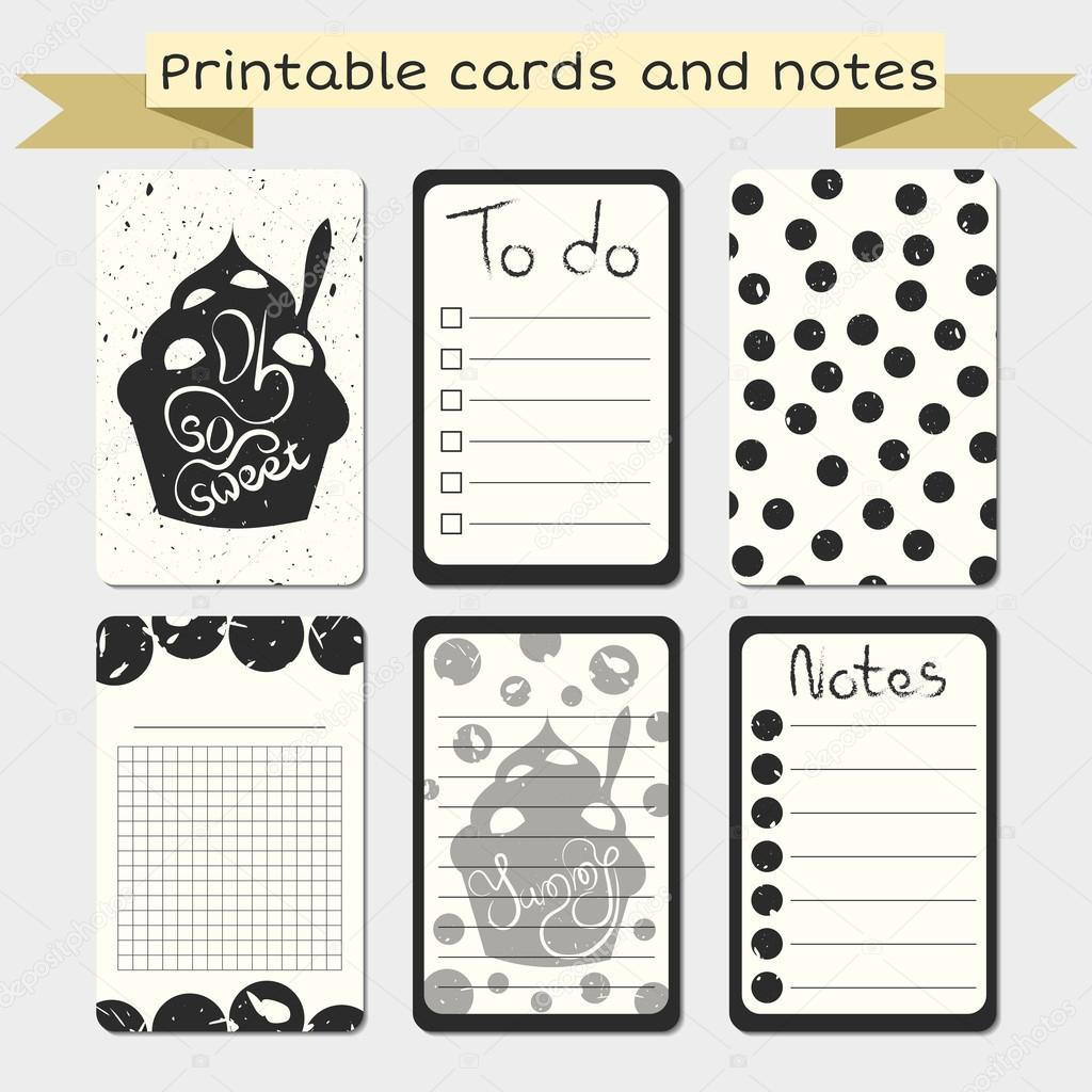 image relating to Free Printable Journaling Cards identify Printable journaling playing cards. Notes programs. Inventory Vector