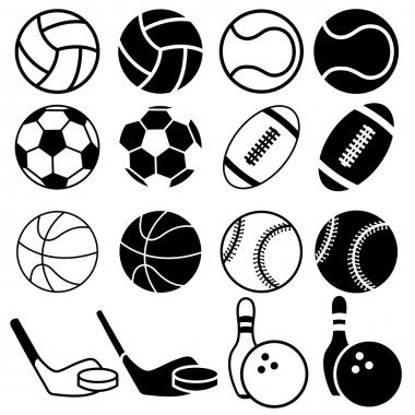 Set Of Sports Balls icons.