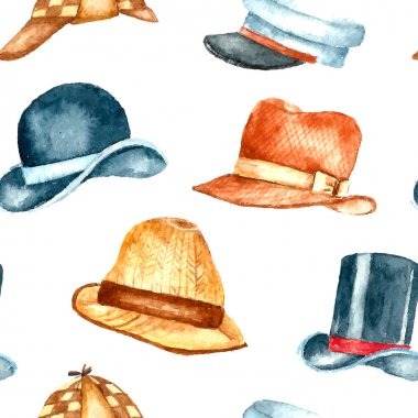Watercolor hat collection