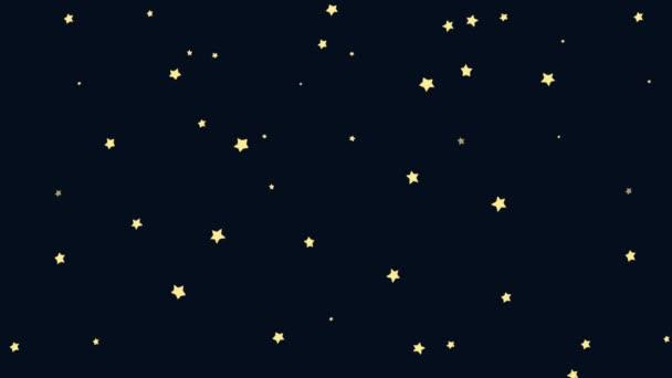 Kreslený půlměsíc s Hvězdné noci