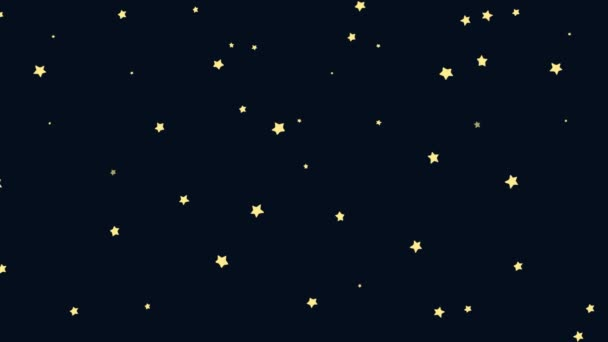 Animated Cartoon of A Starry Night Background