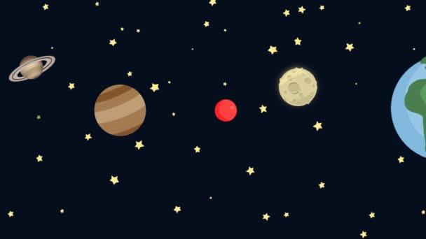 Kresleny Planety Ve Vesmiru Video C Footageisland 82412450