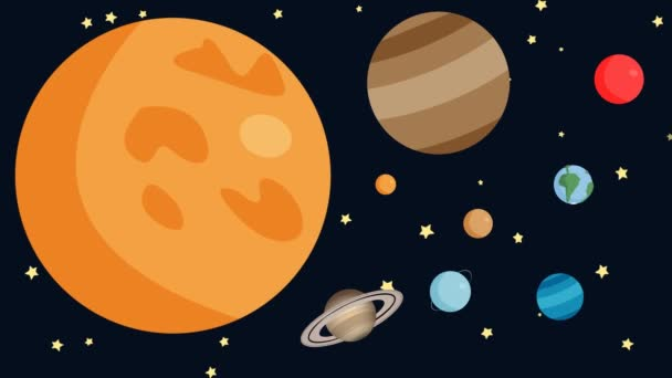 Cartoon Animation of the Planets of the Solar System