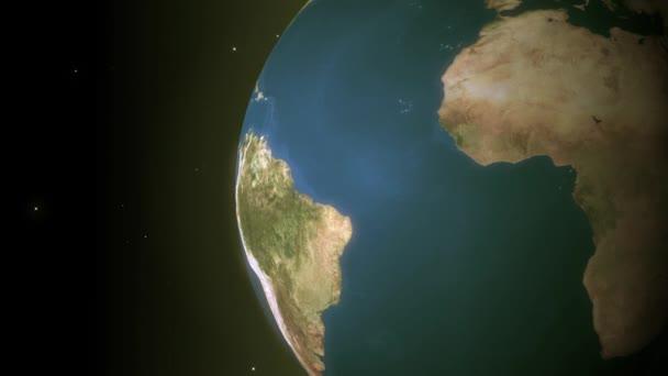 Zblízka na zemi z vesmíru