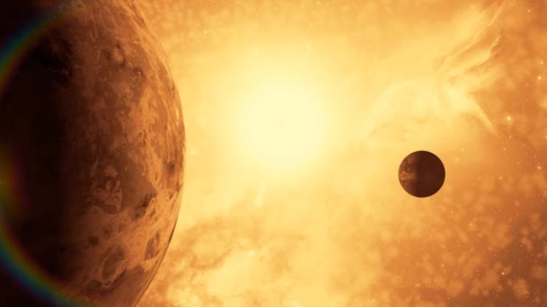 planety a měsíc ve vesmíru