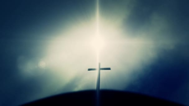 Wooden Cross Black out the Sun on Jesus Golgotha Mount Calvary