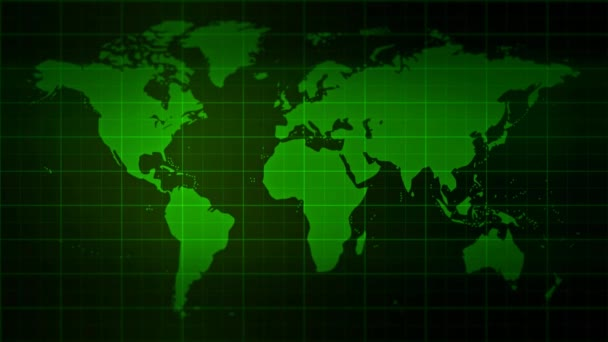 Blank Monitor with World Map Background