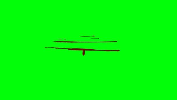 Bleeding Cut in the Flesh on a Green Screen Background