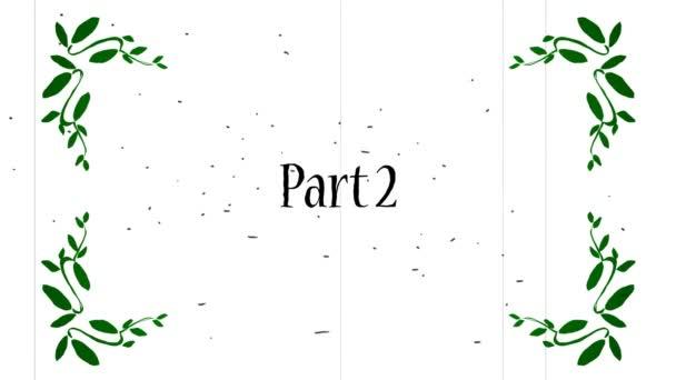 Cartoon-Film Kapitel Titel Teil 1 bis 6, auch bekannt als Erste Act, Der zweite Akt etc.