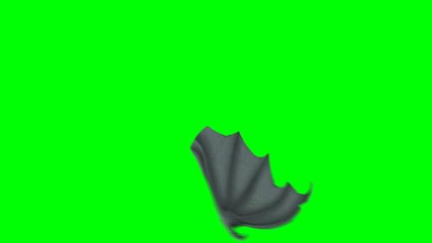 Bat nebo dračí křídlo mává na pozadí zelené obrazovky