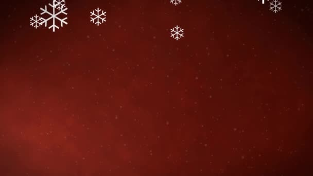 Vánoční pozadí animace sněhových vloček