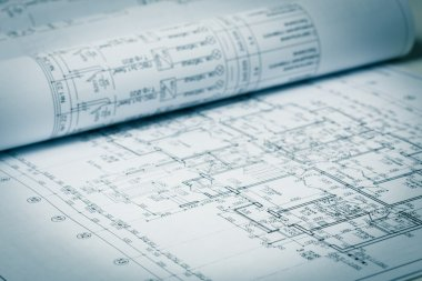 construction industry Architecture rolls architectural plans project
