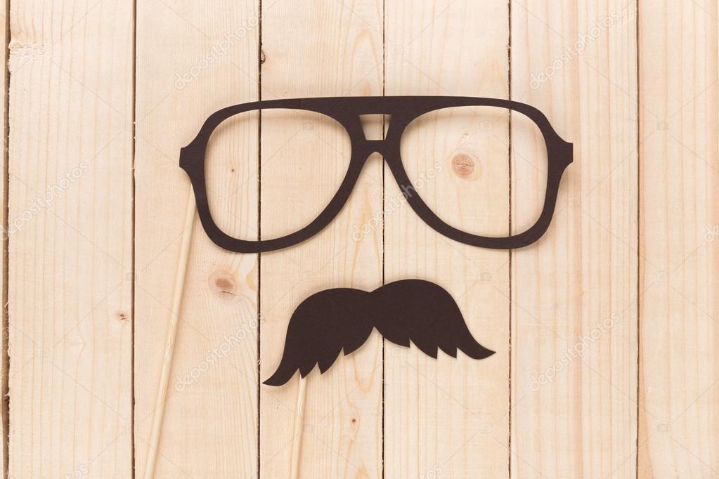 Claro gafas anteojos con marco negro — Foto de stock © Fotofabrika ...