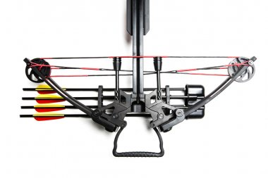 Crossbow on a white background