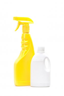 Plastic packaging for household chemicals.