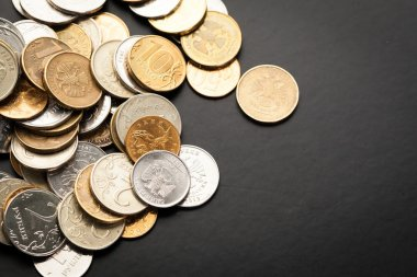 closeup of Russian money