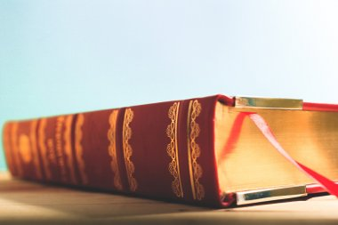 Book on a desk