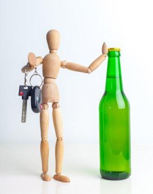 Alcohol and car keys on bar