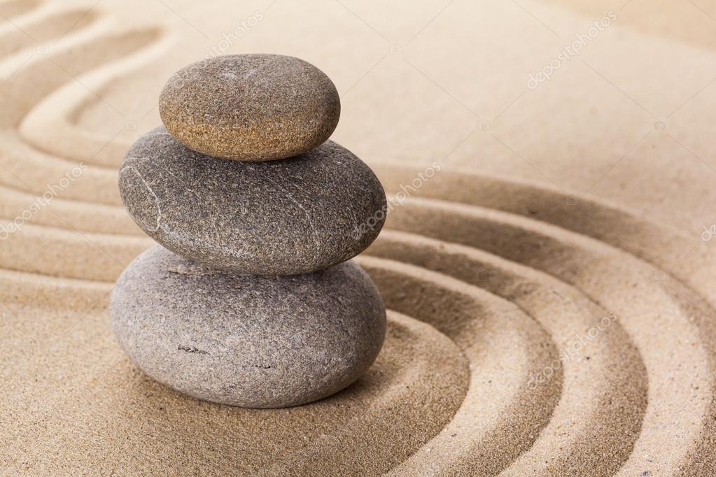 jardn de piedras zen foto de stock - Piedras Zen
