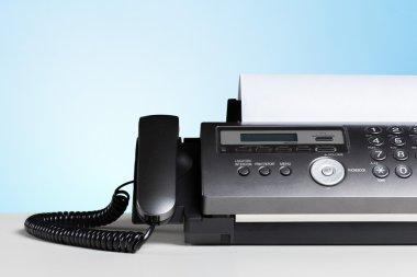 black fax machine