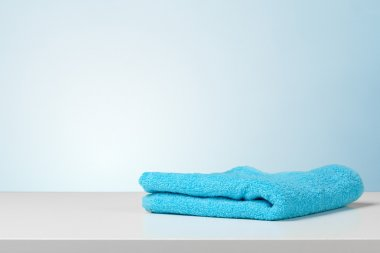 bath towel on table