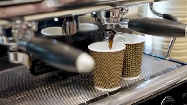Barista kávéfőző professzionális kávéfőző gép közelről