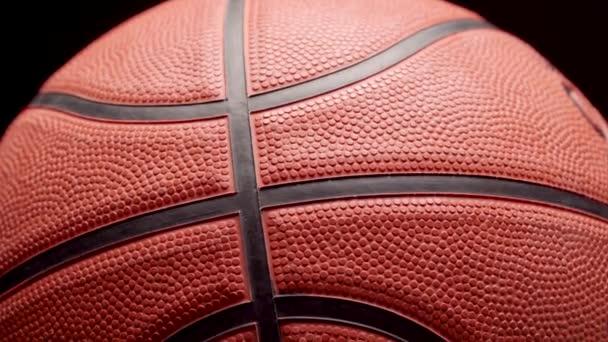 Kosárlabda közel sötét fekete háttér