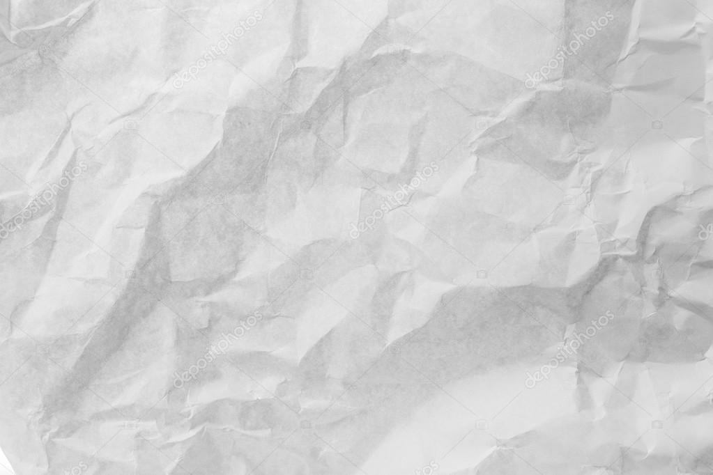 white crumpled paper texture for background stock photo