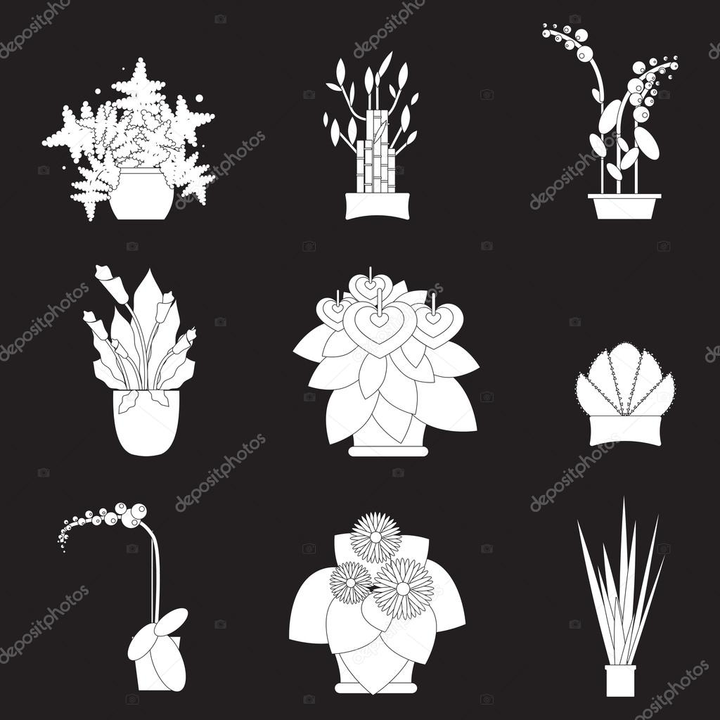 indoor home office plants royalty. Illustration Of Houseplants, Indoor And Office Plants In Pot. Home For Garden Or Home. Set Potted Plants. Flat Plants, Vector Icon Set. Royalty E