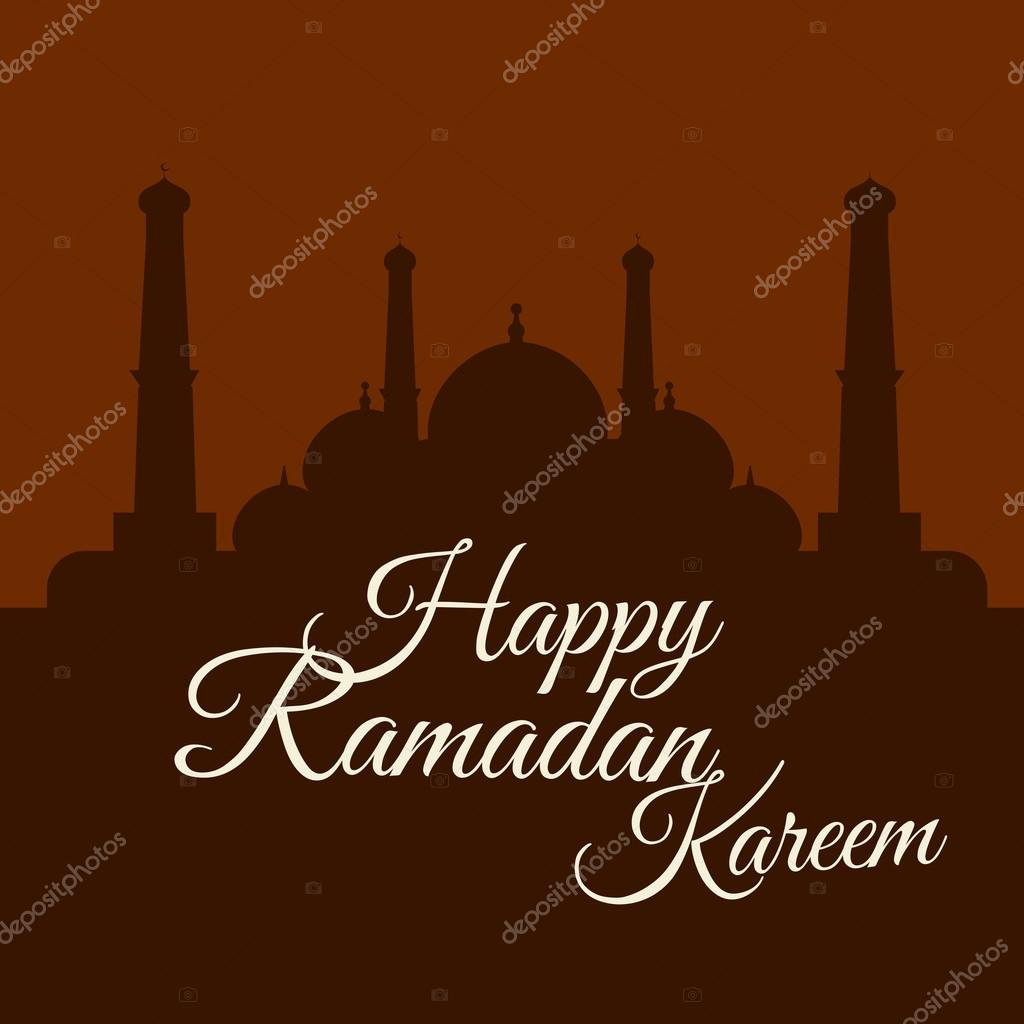 Happy Ramadan Kareem Greeting Background Illustration Stock Photo