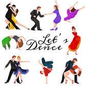 Fotografie Tanzende Menschen, Tänzerin Bachata, Hip Hop, Salsa, Indisch, Ballett, Strip, Rock And Roll, brechen Sie, Flamenco, Tango, Contemporary, Bauchtanz Piktogramm Symbol. Tanzstil Designset Konzept