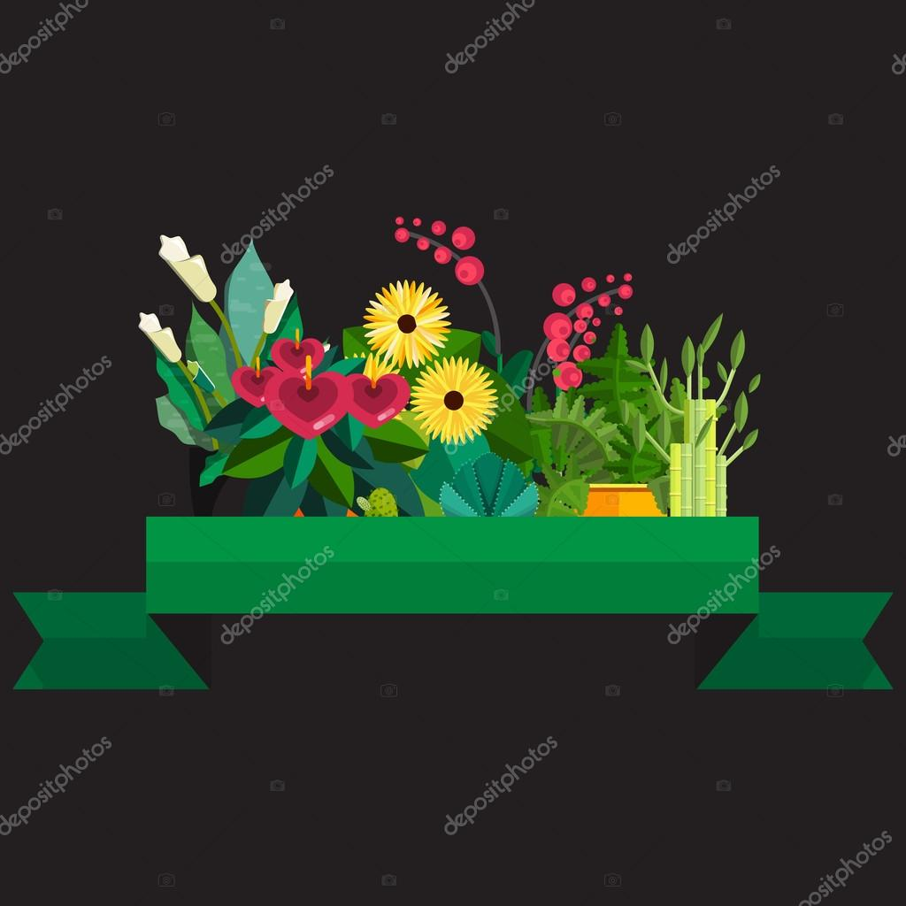 Bouquet of flowers birthday vector illustration flat design bouquet of flowers birthday vector illustration flat design stok vektr izmirmasajfo