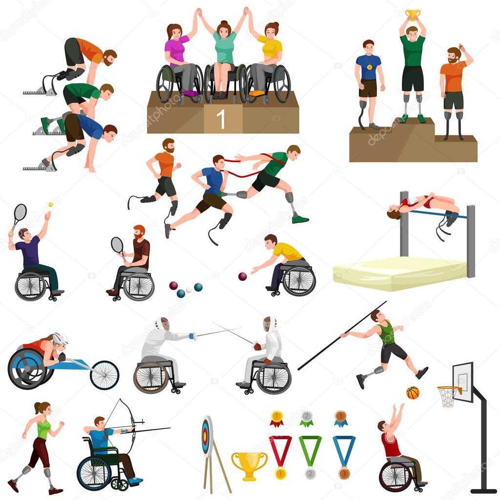 Disattivare le icone di handicap sport paralimpici giochi for Piani di handicap
