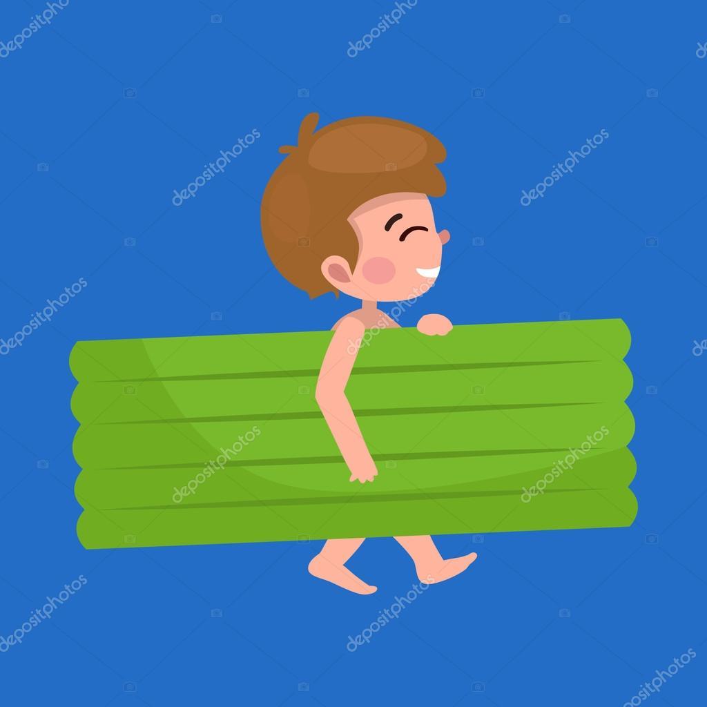 Ragazzo in costume da bagno isolato vacanze estive per bambini vettoriali stock anutaberg - Bambini in costume da bagno ...
