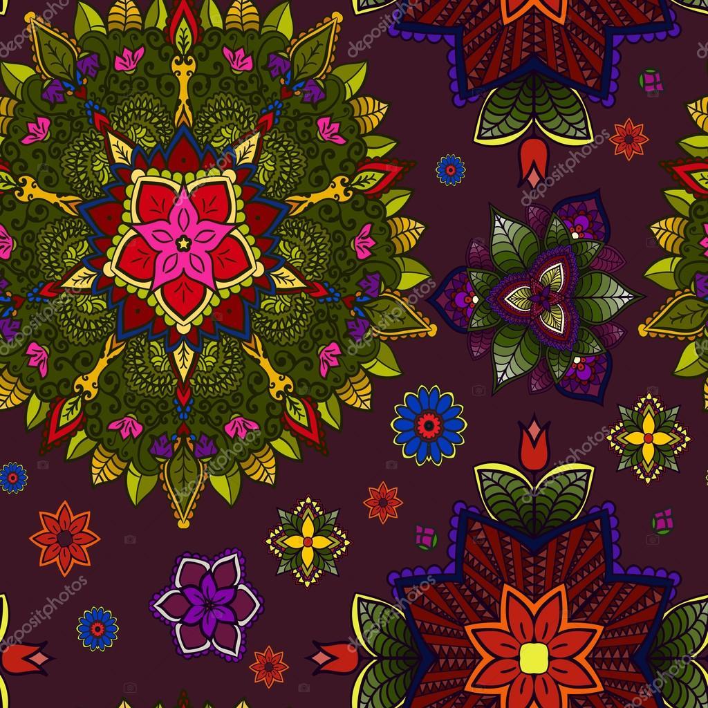 Hand drawn Mandala, Floral Design Element