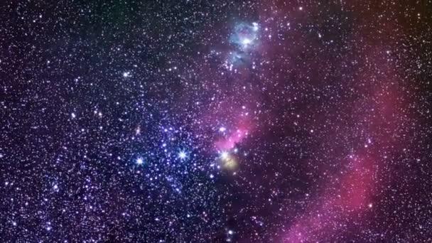Orion lovec. Souhvězdí Orion skutečné noční obloze.
