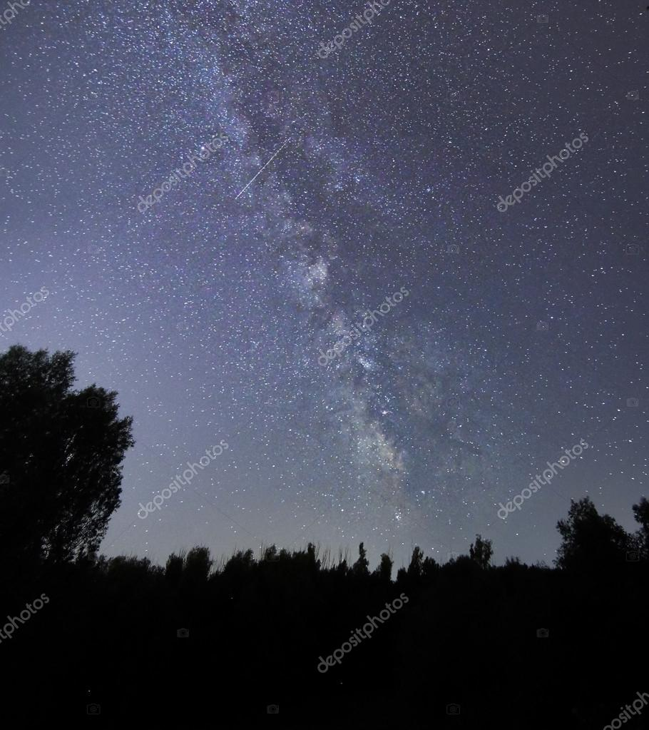 Milky Way galaxy beautiful night sky