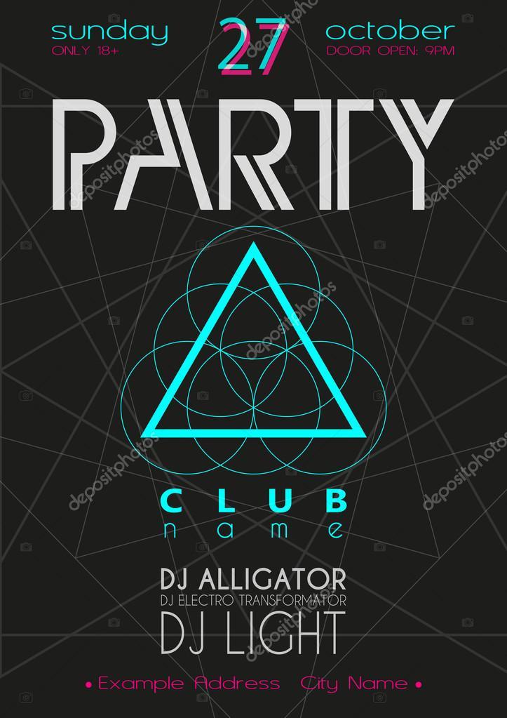 Fabuloso Party Flyer. Nightclub Flyer. — Stock Vector © hope-designer #82501176 ZJ55