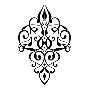 elegant damask ornament