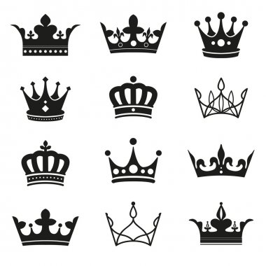crown silhouette set