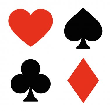 playing card symbols set