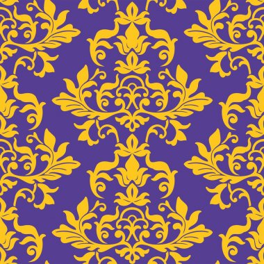seamless damask wallpaper pattern