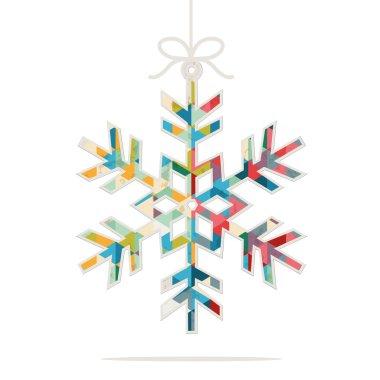 christmas snowflake ornament illustration