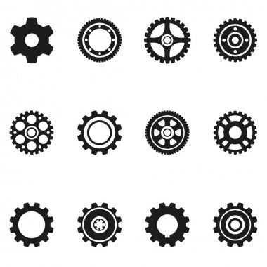 gear silhouette icons