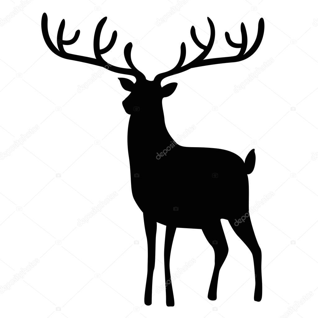Christmas Reindeer Silhouette.Christmas Reindeer Silhouette Illustration Stock Vector