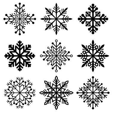 winter christmas snowflakes